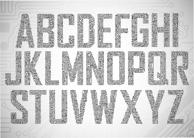 Circuit board letters