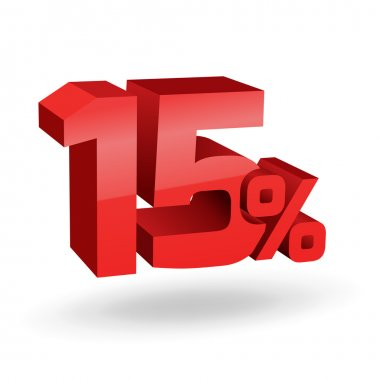 15 percent illustration