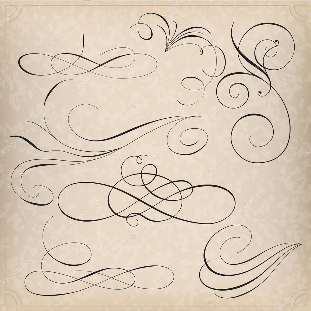 Calligraphy elements stock vector vtorous 42025163 Images of calligraphy
