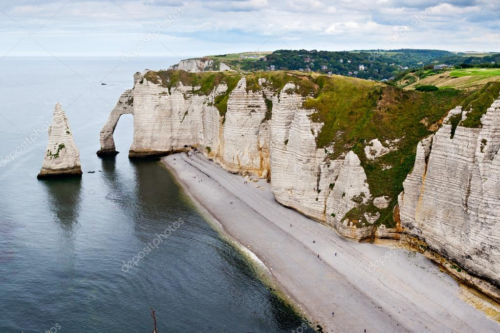 Cliffs Of Etretat Normandy France Stock Photo C Peresanz 12545301