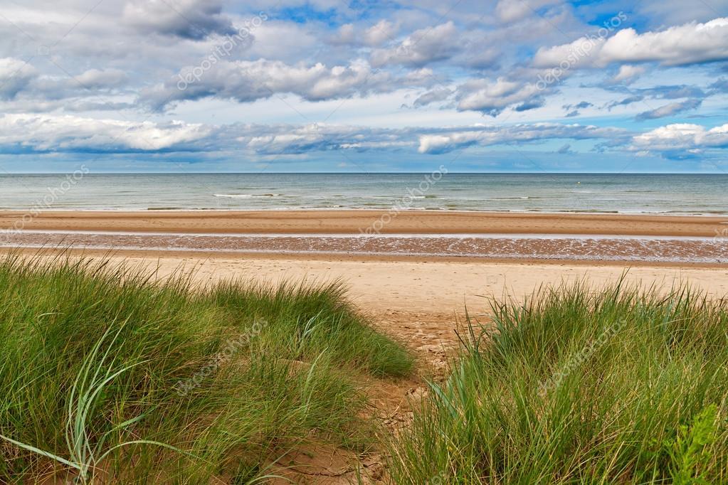 Omaha Beach Einem Der D Day Strände Der Normandie Frankreich
