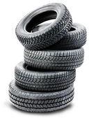 pneumatiky na bílém pozadí