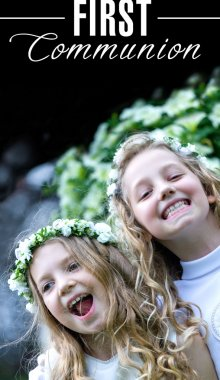 First Communion - the happy girls