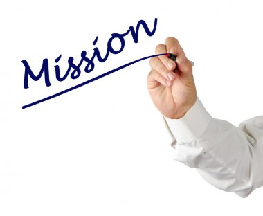 Writing mission stock vector