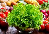 Salat mit grünem Salat