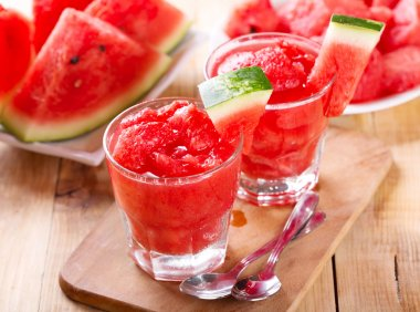 fresh watermelon granita