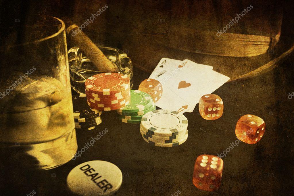 Download - Vintage poker - Stock Image