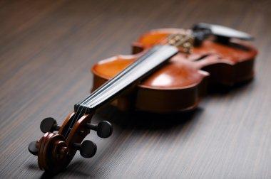 aged handmade violin