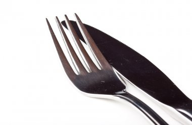 Fork and knife next to each other