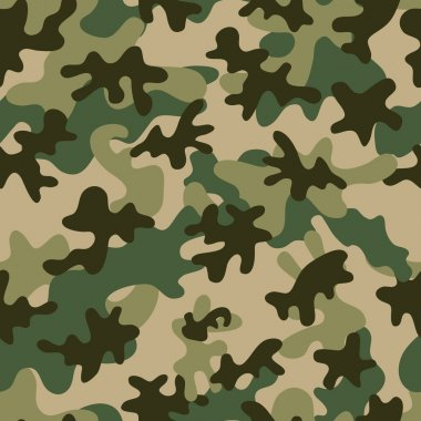 Camouflage Seamless Pattern. Can be used for wallpaper, pattern fills, web page background, surface textures. stock vector
