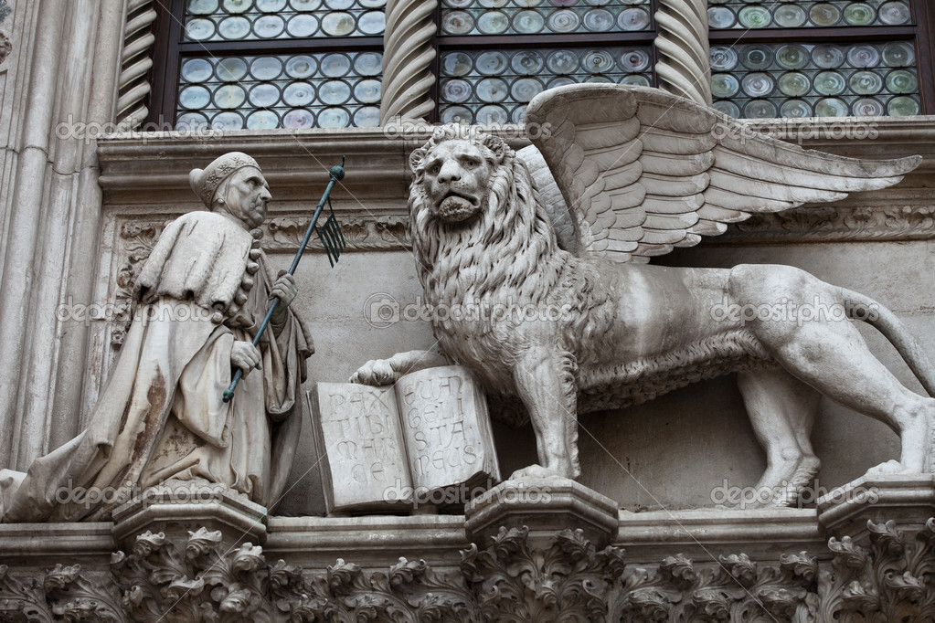 Venice Winged Lion Of St Mark Symbol Of Venice Stock Photo