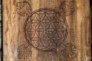 Wooden Flower of Life.