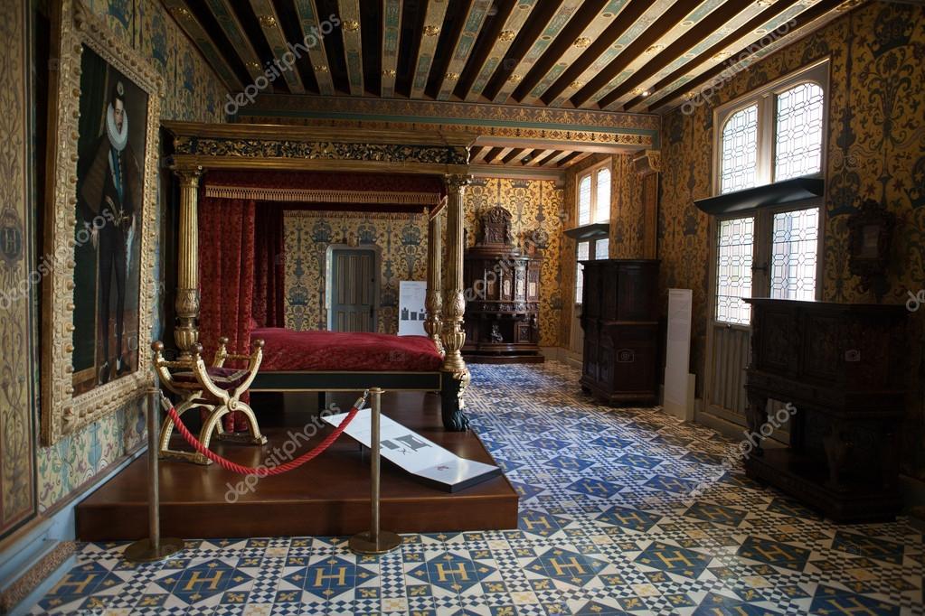 het Koninklijke kasteel de blois. interieur van de francis die ik ...