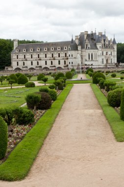 Garden and Castle of Chenonceau.