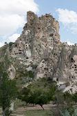 vue du château duchisar en Cappadoce, Turquie