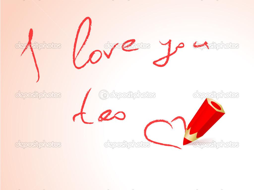 I Love You Too Stock Vector Olgatropinina 23012960