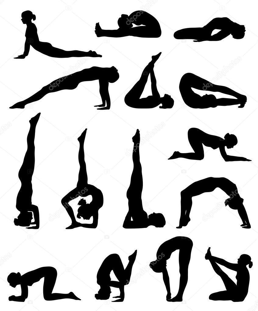 ᐈ Yoga Pose Outline Stock Vectors Royalty Free Yoga Pose Illustrations Download On Depositphotos