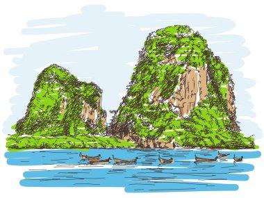 Thailand beach landscape