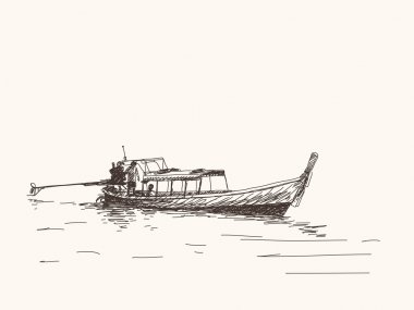 Long tail boat