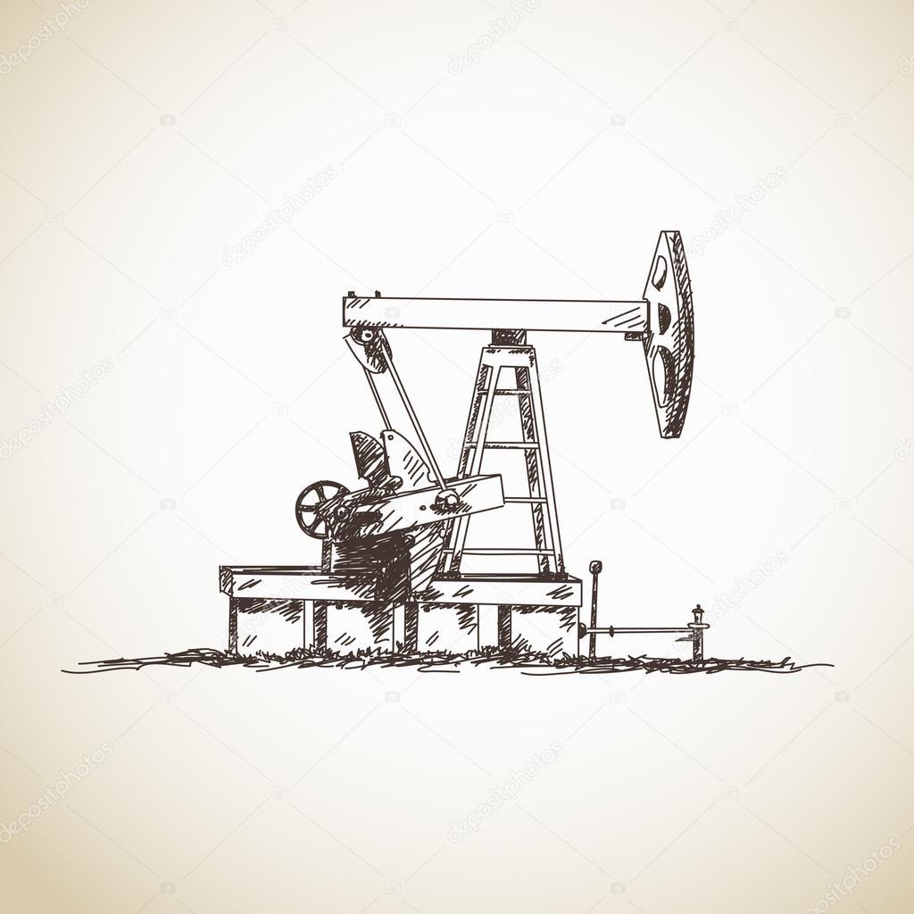Sketch of oil pump
