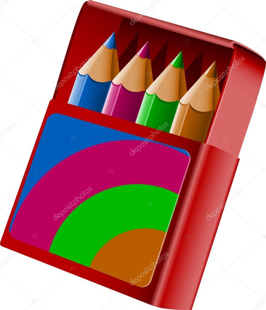 caja de crayolas — Vector de stock © jara3000 #13202111