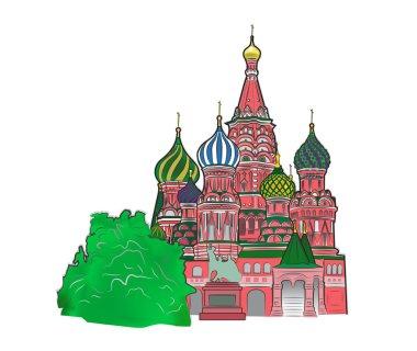 St Basil vector illustration color version