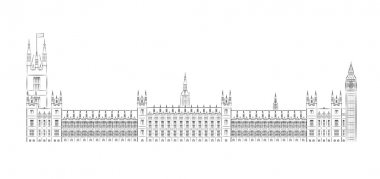Big Ben and House of Parliament vector illustration