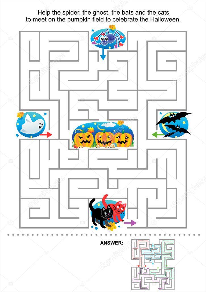 Juegos De Laberintos 3d De Calabazas Laberinto De Halloween Juego