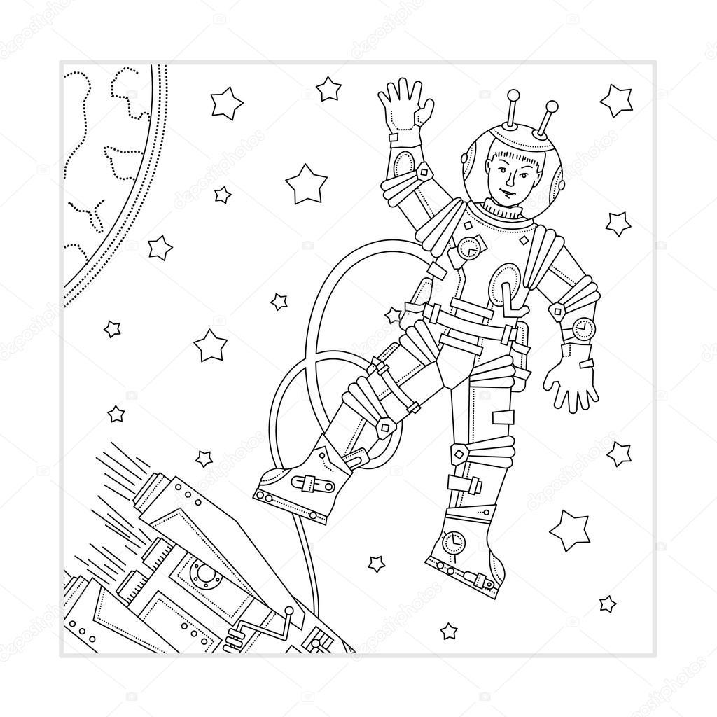 Uzay Boyama Vektorler Ve Grafikleri Depositphotos