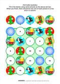 Fotografie Bild-Sudoku-Rätsel, Weihnachts- oder Themen