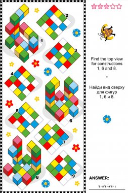 Find top view visual math puzzle