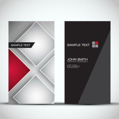 Vertical Modern Business Card Set | EPS10 Vector Design
