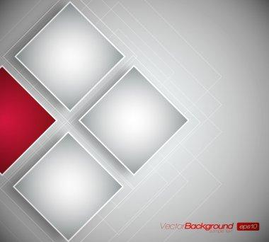 Business Squares Background - Vector Design Concept