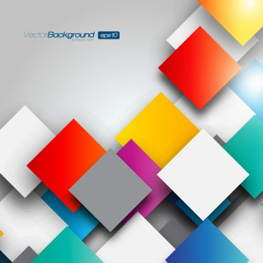 Colorful Square blank background - Vector Design Concept