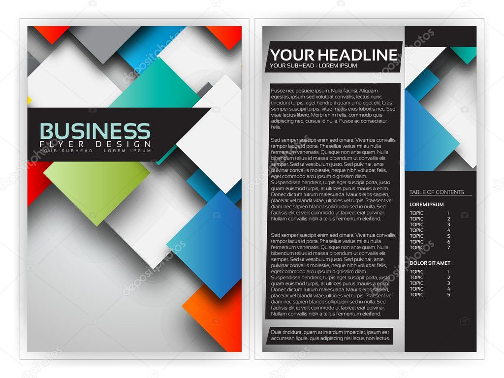 Colorful D Squares Business Brochure Template Vector Design - 3d brochure template