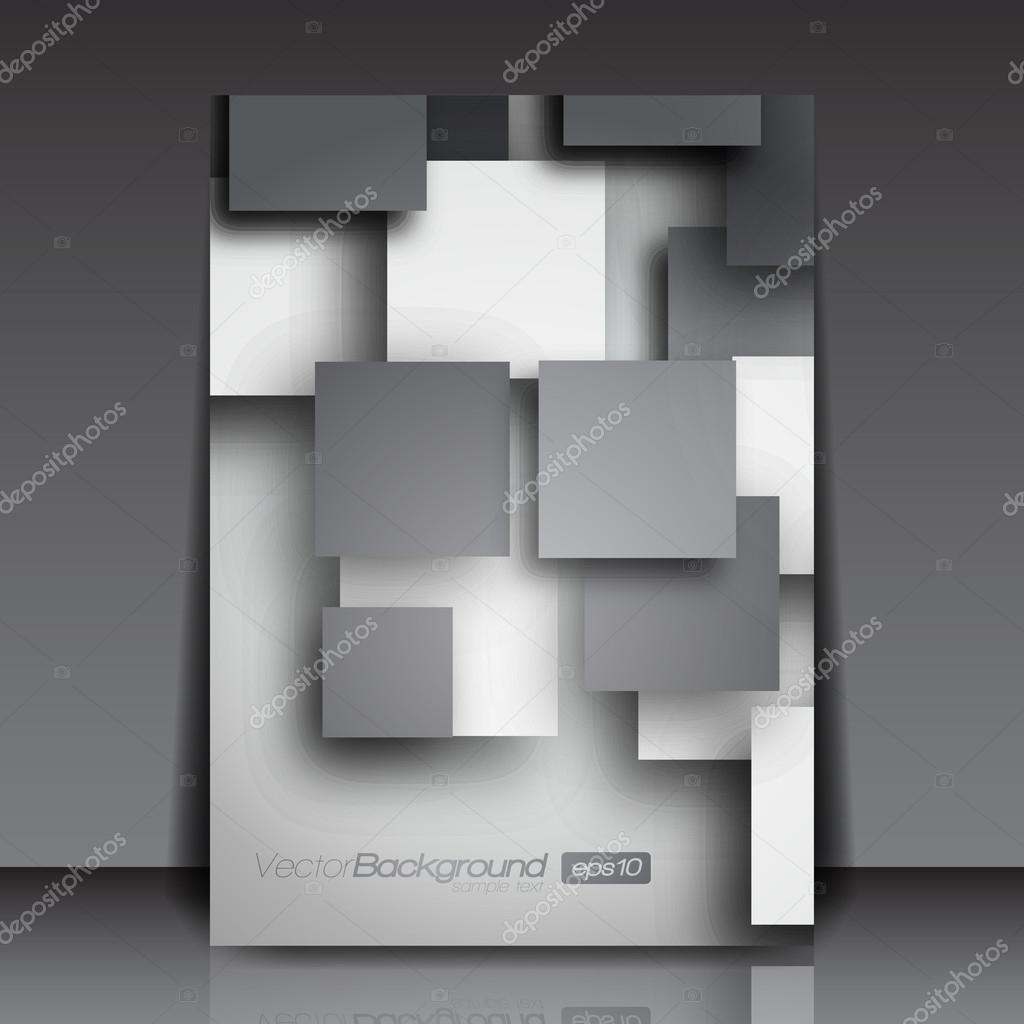 3D Squares - Business Flyer Template Vector Design