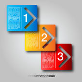 Fotografie Next Step Arrow Boxes | EPS10 Vector Design