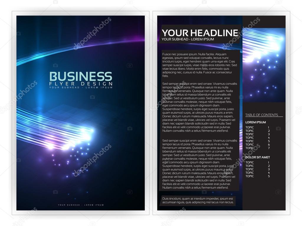 D Optical Fibers Business Brochure Template Editable Vector - 3d brochure template