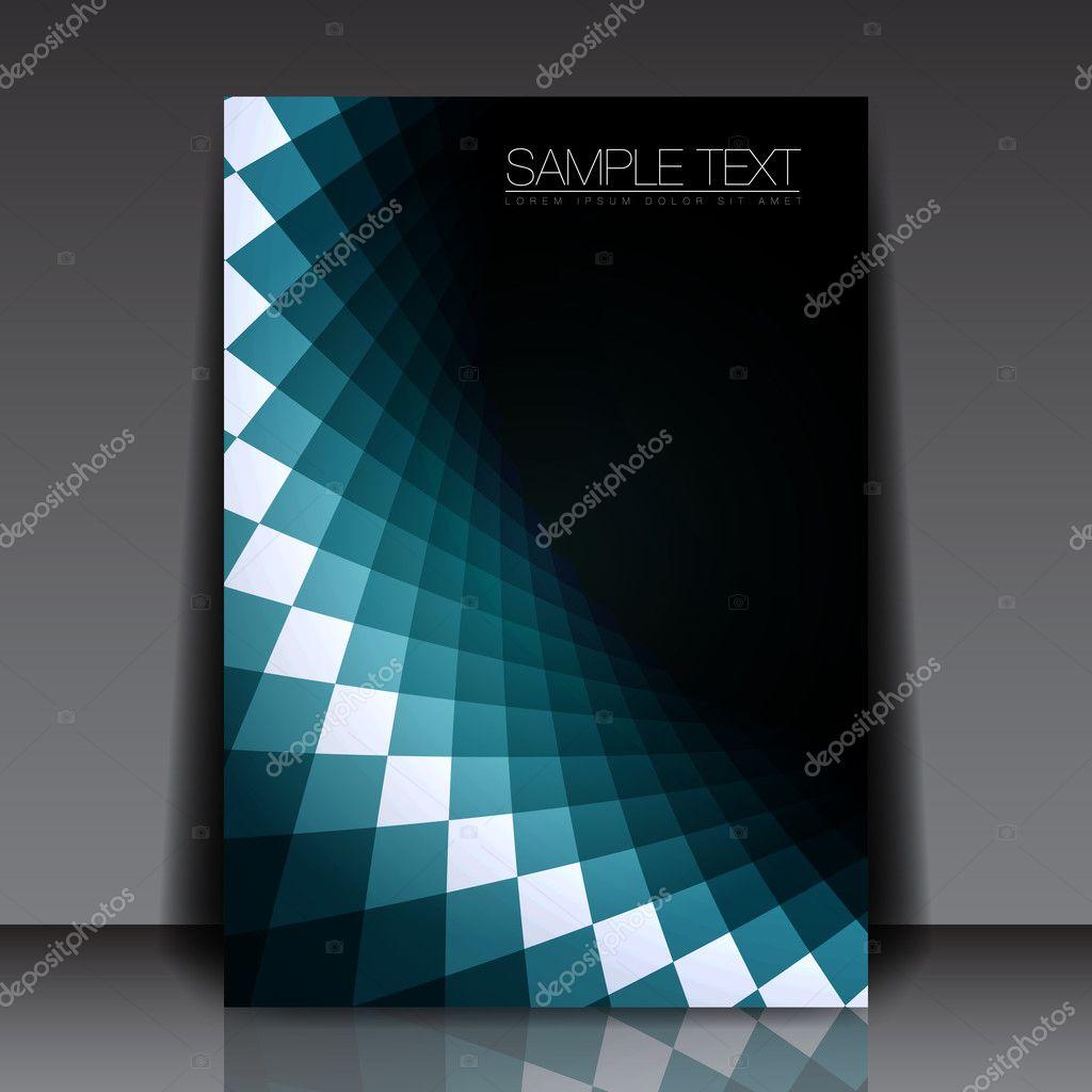 Blue Shape Flyer Template Design | EPS10 Vector Background