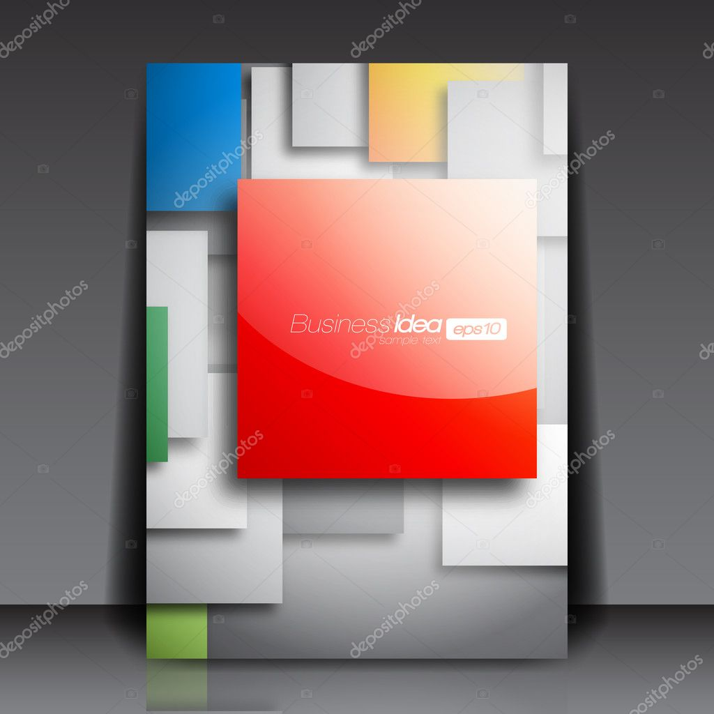 colorful square blank flyer template stock vector hunthomas