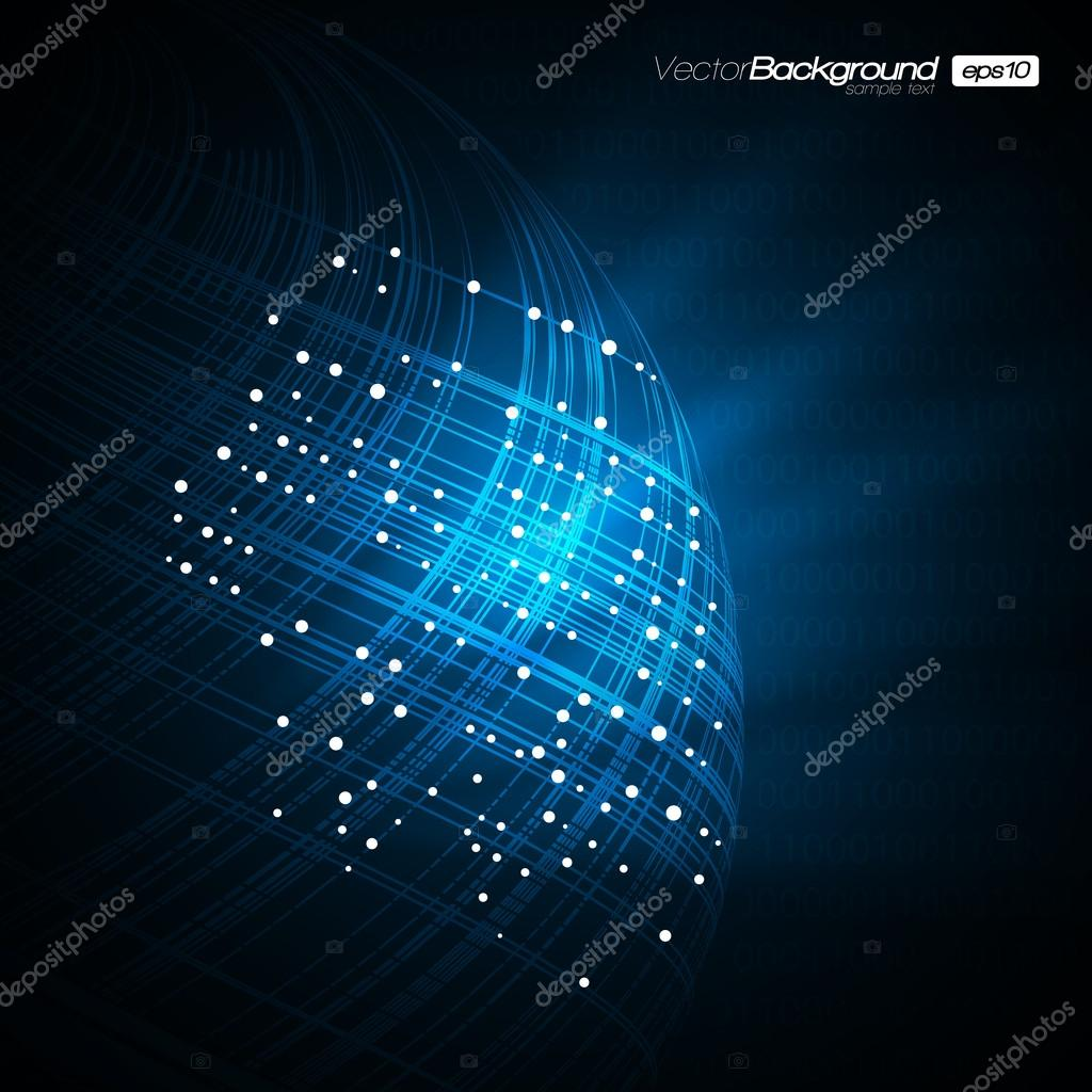 Blue Network Modern Vector Illustration