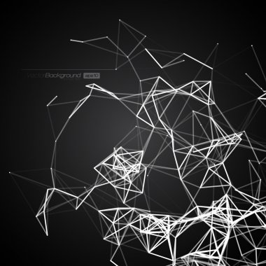 Black and White Modern Lines Background