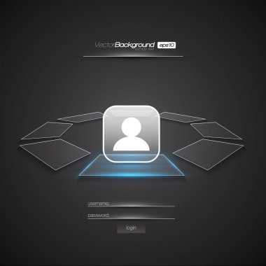 Modern Interface Design Login Screen