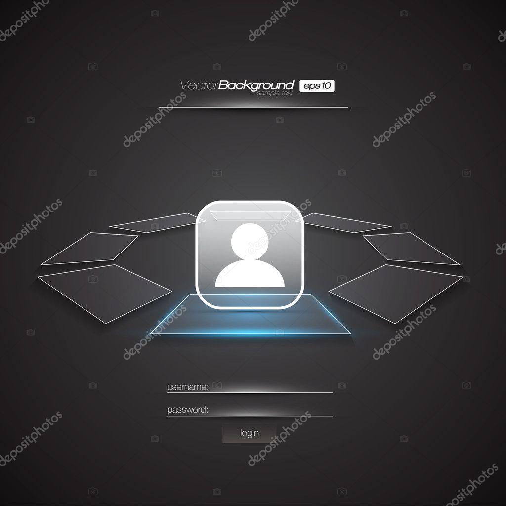 Modern interface design login screen stock vector for Modern screen design