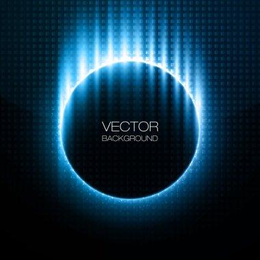 Infographic Blue Neon Vector Design stock vector