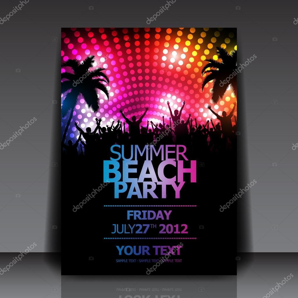 Extremamente Party Flyer — Stock Vector © hunthomas #20991723 BH18
