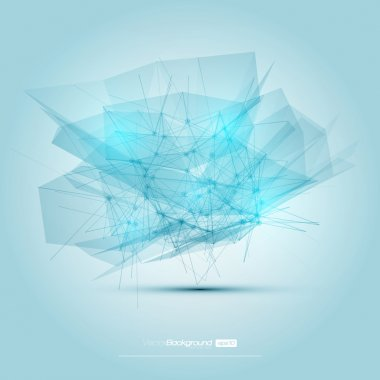 Futuristic Abstract Blue Modern Lines Background. Vector Illustration