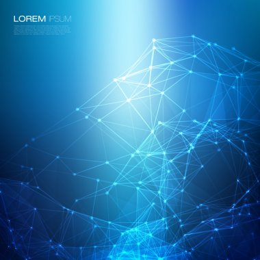 Abstract network blue on vector background