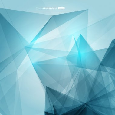3D Abstract Geometric Background for Design
