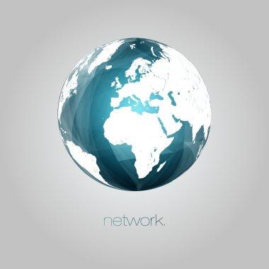 3D Abstract Globe Vector Illustration